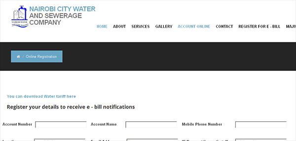 Check Nairobi Water Bill