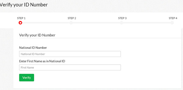eCitizen ID Number Verification