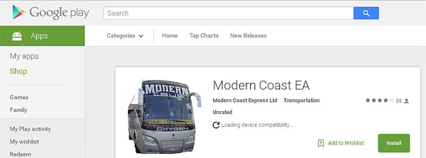 Modern Coast Booking Android App