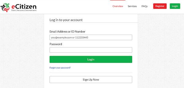 NTSA eCitizen Portal