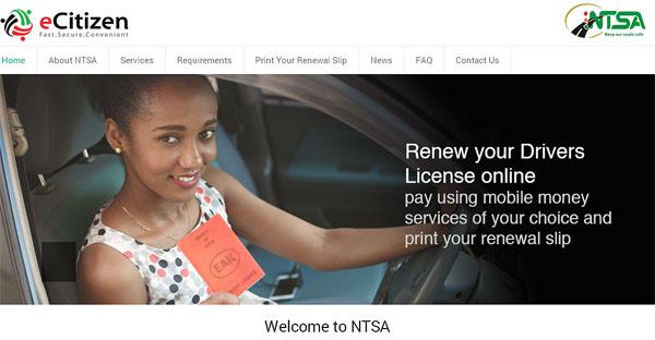 Renewal Of Driving License In Kenya Via eCitizen Portal