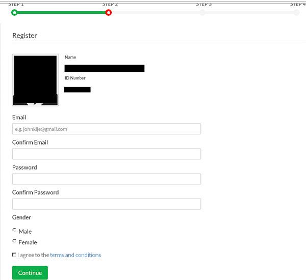 Verify eCitizen Account