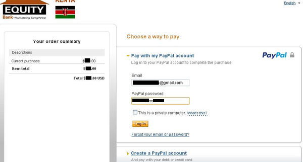 Authorize PayPal Equity Bank Withdrawal