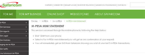 Mpesa Mini Statement: How to Get Mpesa Statement via SMS