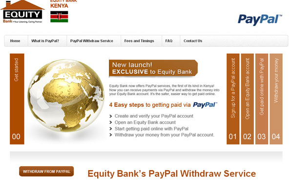 Withdraw Money from PayPal to Equity Bank Account