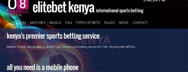 Elite betting kenya on sms minecraft hookshot mod 1-3 2-4 betting system
