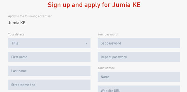 Jumia Affiliate Sign In