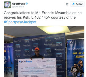 SportPesa Jackpot Winners this Week