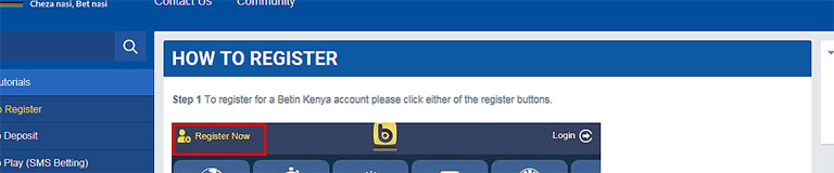 Betin Registration: How To Register On Betin Kenya via SMS and Online