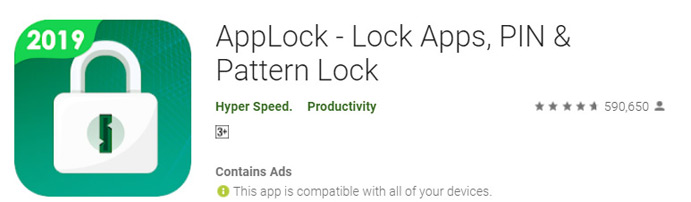 AppLock - Lock Apps, PIN and Pattern Lock