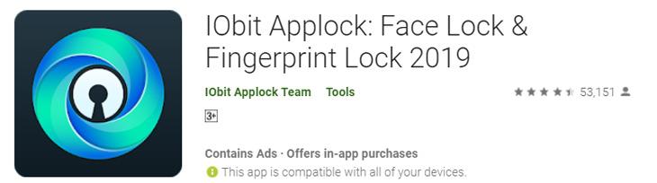 IObit AppLock Face Lock & Fingerprint Lock 2019