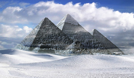 Pyramids of Egypt are a popular tourist attraction